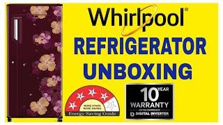 Whirlpool 200 L Single Door 4 Star Refrigerator Wine Azalea 215 IMPC PRM 4S Unboxing