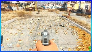 Fallout 4 - 5,000 NUKE EXPLOSION (OUTSIDE)