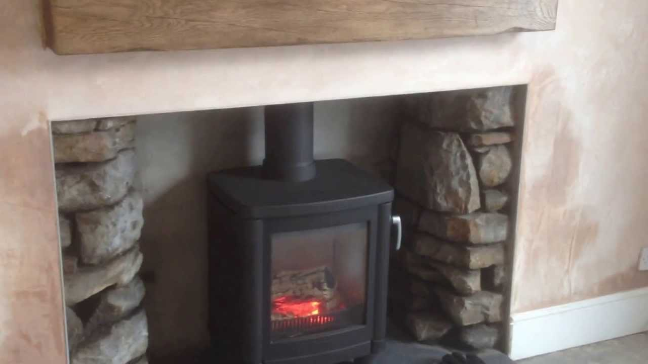 contura 51l wood burning stove installation after knock out of