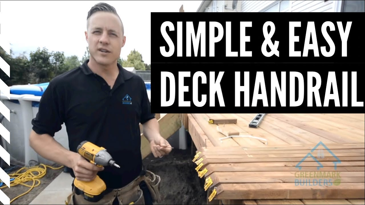 how to build an economical deck railing out of wood [ 1280 x 720 Pixel ]