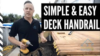 How to build a deck railing out of wood