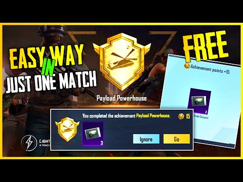 EASY WAY TO COMPLETE PAYLOAD POWERHOUSE ACHIEVEMENT IN PUBG MOBILE   GET FREE 3 CLASSIC CRATE