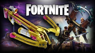 CROSSBOW WITH INIFINITE ARROWS AND A NEW SKIN! -FORTNITE ROMANIA