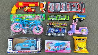 Unboxed & Review Brand New Toy Vehicles | Bicycle, Police Car, City Bus, Scooter, Dump Truck and ETC
