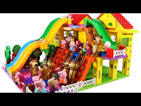 Thumbnail: Peppa Pig Blocks Mega House LEGO Creations Sets With Masha And The Bear Legos Toys For Kids #35