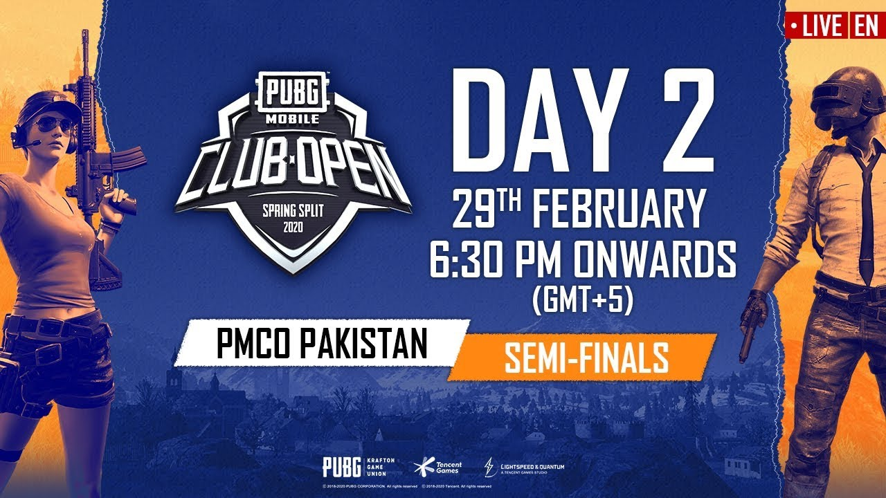 [EN] PMCO Pakistan Semi Finals Day 2 | Spring Split | PUBG MOBILE CLUB OPEN 2020