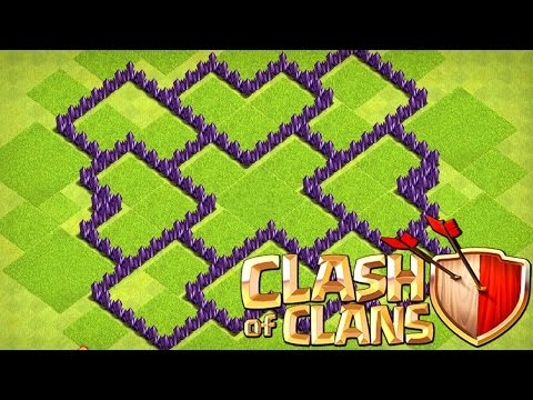 BESTE RATHAUS LEVEL 7 BASE 2017 | Clash of Clans Base Design TH 7 | Matze