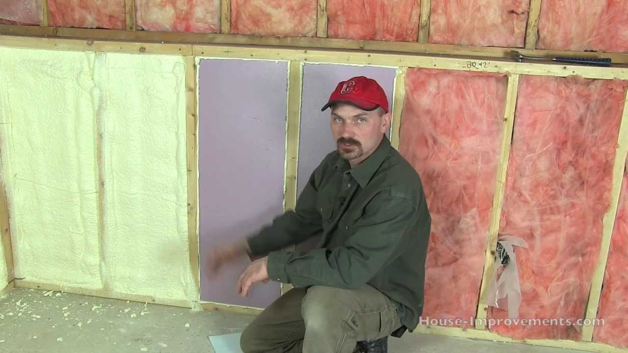 House insulation different types youtube for Types of insulation for basement