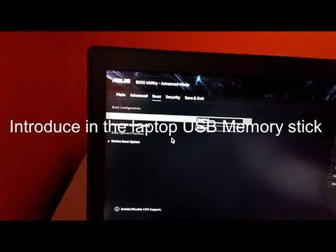 How To Setup BIOS For Boot An USB Memory Stick