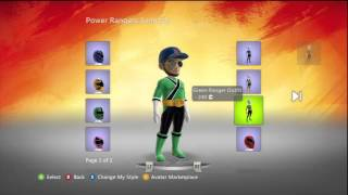 Power Rangers Samurai Xbox Live Avatar Marketplace Items