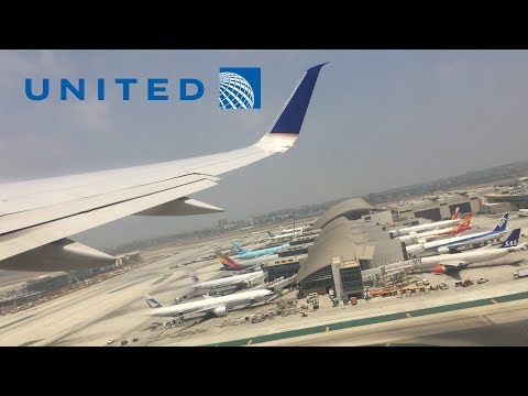 United Airlines 757-200 pushback, taxi, takeoff at Los Angeles (LAX)