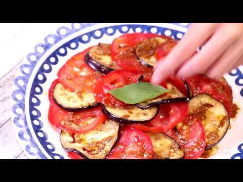 Carpaccio aubergines et tomates