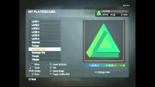 "Black Ops ""How to make this Emblem"" 3D Triangle Emblem"