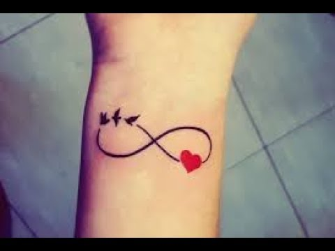 Infinity Tattoo With Name Messanges Youtube