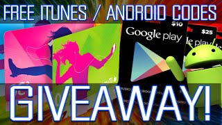 HOW TO GET FREE ITUNES / GOOGLE PLAY CODES! + EPIC GIVEAWAY!