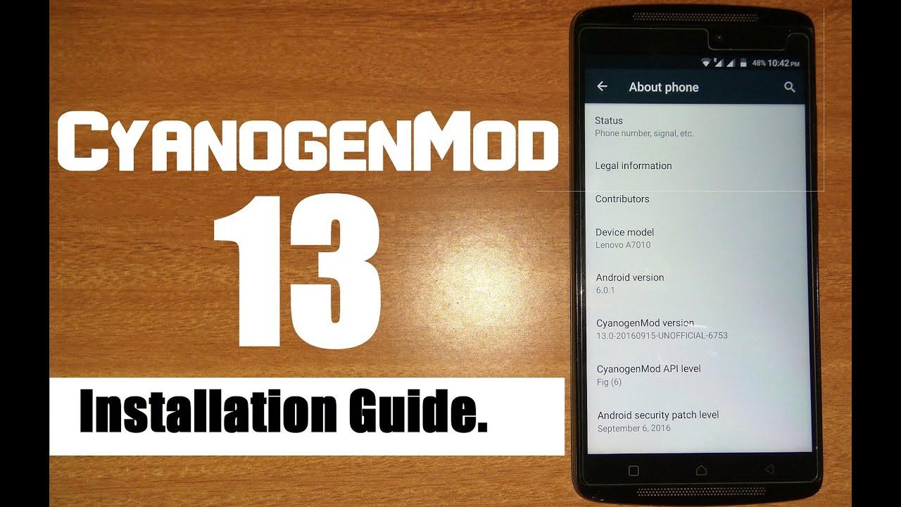Install-CyanogenMod-13-on-Lenovo-K4-note/A7010/Vibe-X3-lite