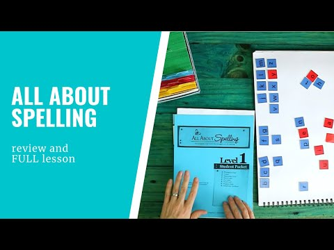 All About Spelling Level 1 review - full lesson and walk-through