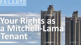 Your Rights as a Mitchell Lama Tenant                          M