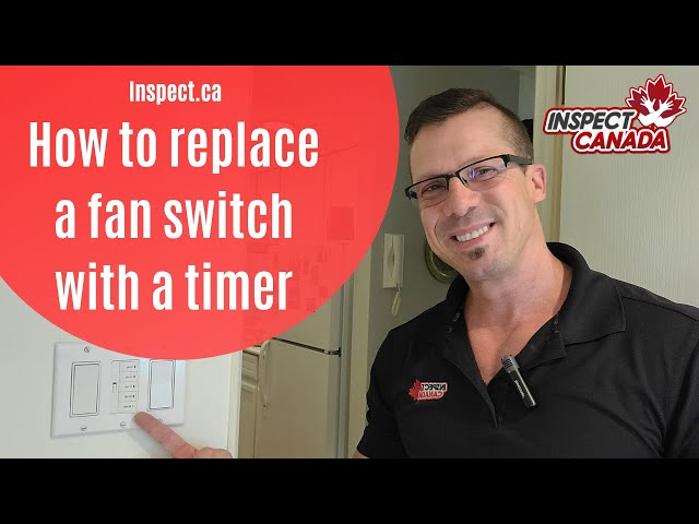 How to replace a normal bathroom fan switch to a timer switch.