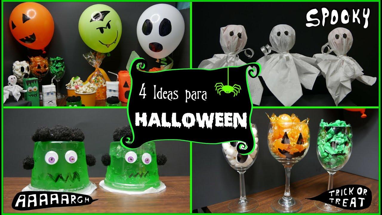 4 manualidades sencillas para halloween diy parte 1 - Manualidades halloween faciles para ninos ...