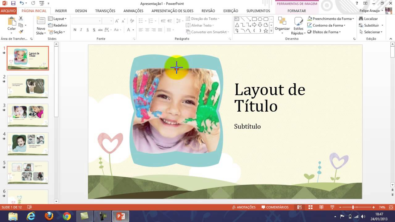 powerpoint 2013 how to add subtitles in slides