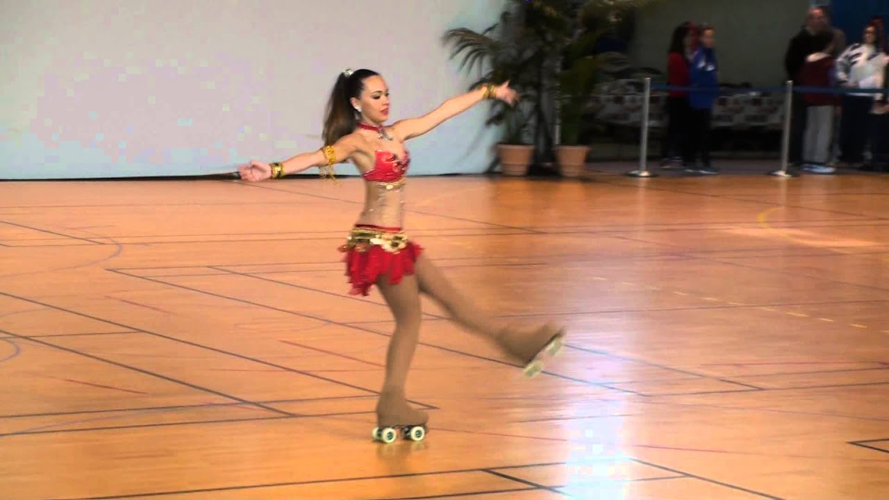Roller skates dance - Issy International Roller Dance Competition Free Dance Lia Bassetto