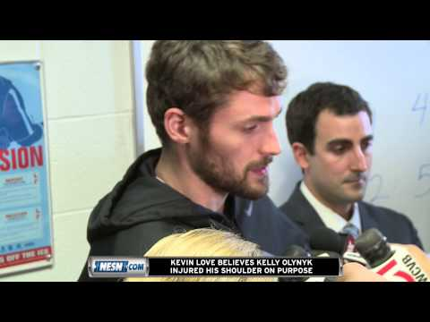 Kevin Love Believes Kelly Olynyk Hurt His Shoulder Intentionally