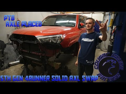 5TH GEN 4RUNNER SOLID AXLE SWAP PT6 AXLE PLACEMENT Cougar House Films Ep206