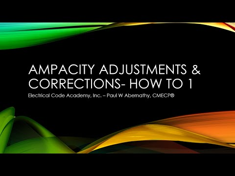 Applying Conductor Adjustments & Corrections- Simple Example
