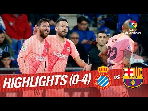 Highlights RCD Espanyol vs FC Barcelona (0-4)