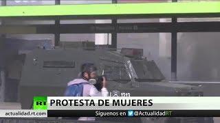 Chile: Protesta feminista termina en enfrentamientos con la Policía