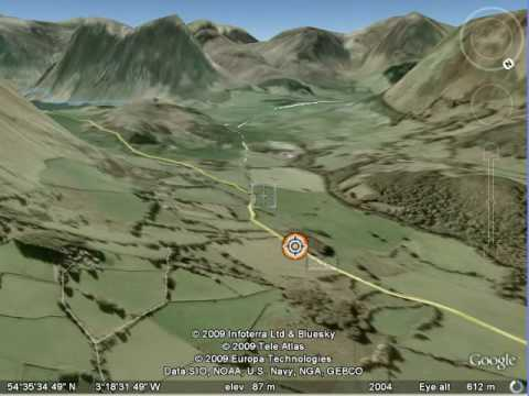 Fred Whitton Cyclosportive Cycle Route in 3D Fly Through Google Earth