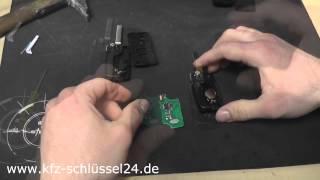Peugeot/Citroen Schlüssel Gehäuse wechseln (umbauen, erneuern) mit rohling wechsel