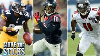 Who are the Top 5 Wide Receivers Right Now? | Move the Sticks | NFL