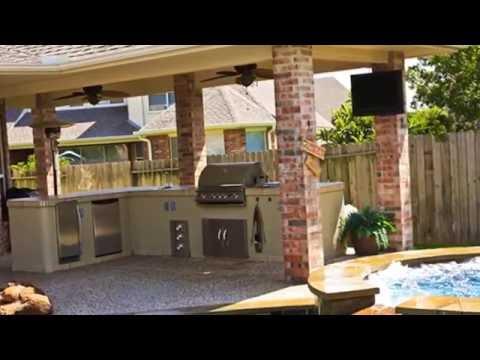 Оформление  (открытой) летней кухни на даче