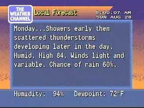 Hurricane Katrina Coverage: 8/28/05