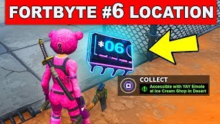 ACCESSIBLE WITH YAY EMOTE AT AN ICE CREAM SHOP IN THE DESERT - Fortnite Fortbyte #6 Location Guide