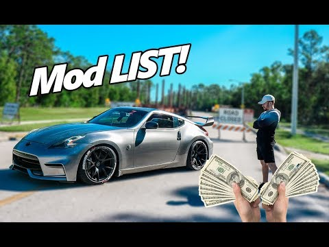My ENTIRE 370z Mod List (2018) | COST of Modifying your 370z/350z | Danny Z