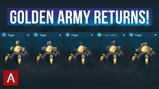 War Robots Fujin - Golden Army Returns with STRONGER Shields | Fujin Gameplay (Different Builds)