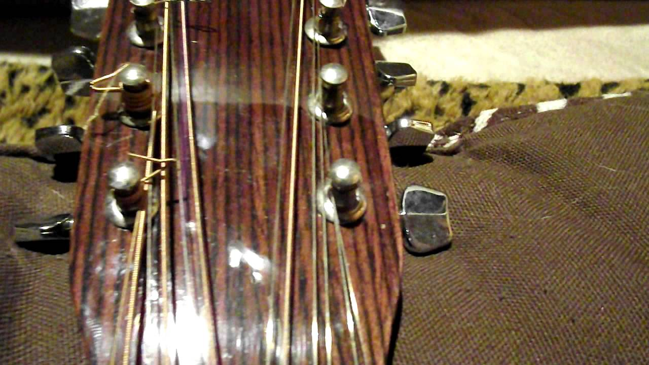 how to string a 12 string guitar string sequence youtube. Black Bedroom Furniture Sets. Home Design Ideas