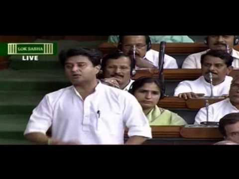 Jyotiraditya Madhavrao Scindia speech in Lok Sabha, May 6, 2016