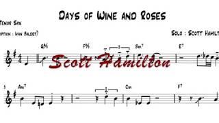 Scott Hamilton plays : Days Of Wine And Roses(solo transcription)