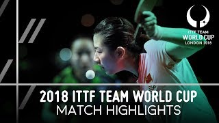 2018 Team World Cup Highlights I Ding Ning vs Mima Ito (Final)