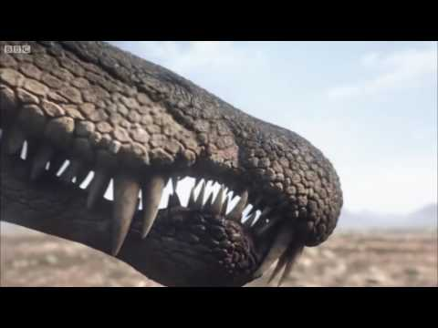 Spinosaurus vs Carcharodontosaurus (pelea de dinosaurios)