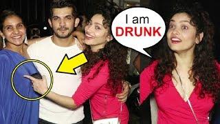 Ankita Lokhande DRUNK With Arjun Bijlani At Friends Birthday Party