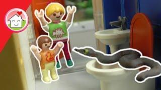 Playmobil Film deutsch - Schlange auf dem Klo ?!? - Geschichte für Kinder von Familie Hauser