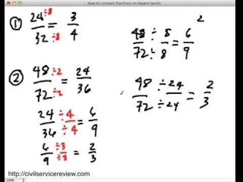 How To Convert Fractions To Lowest Terms