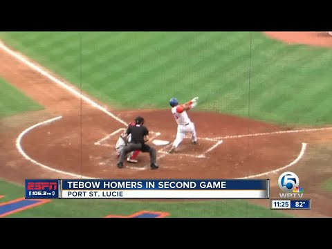 Tim Tebow smacks home run in 2nd game for St. Lucie Mets