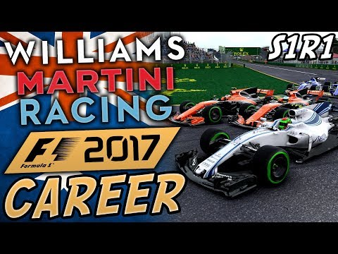 F1 2017 WILLIAMS CAREER MODE #1 | SAFETY CAR DRAMA! | Austra