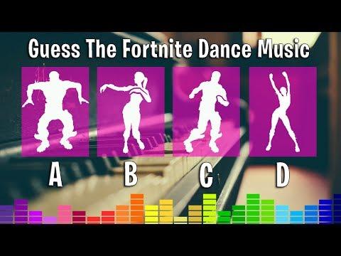 Guess The Fortnite Dance Music (Piano Version) Fortnite Challenge!